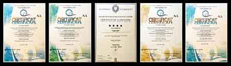 Certificari Pensiunea Oscar Focsani (451x130px)