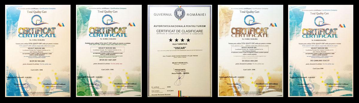 Certificari Pensiunea Oscar Focsani (small)