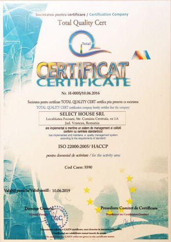 Cazare Focsani: Certificare ISO 22000:2005 Pensiunea Oscar